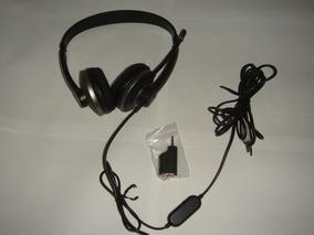 Headset Estéreo Shm7410u Philips Com Adaptador 2 Em 1