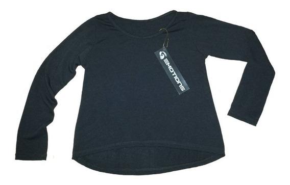 Sweaters Para Niña Emotions Unicolor Semi Cola De Pato Negro