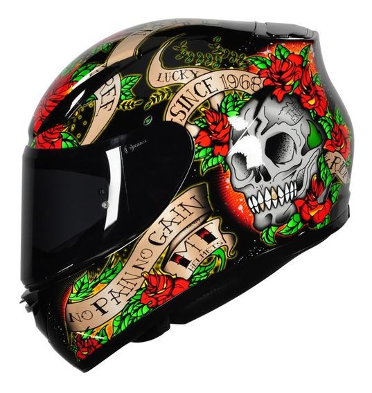 Capacete Mt Revenge Skull Black/red