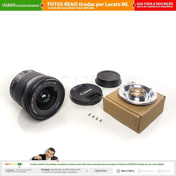 Lente Canon Efs 10-18mm Is Stm + Cx + Conversor Fullframe 2a