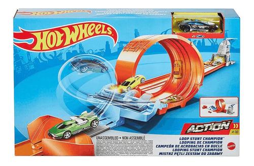 Pista De Carrinhos Hot Wheels Campeonato De Looping Mattel