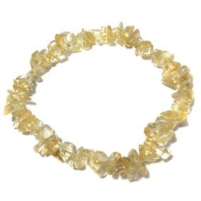 Pulseira Cascalho Natural Pedra Cristal Citrino 915