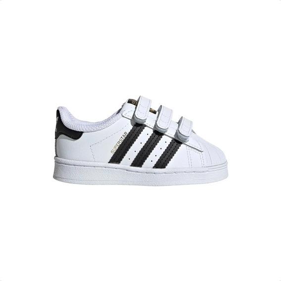 Zapatillas adidas Superstar Cf Vcl Con Abrojo Bebe Infante