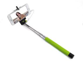 Bastão Monopod Para Selfie Com Botão+ Lentes Olho Peixe Fish