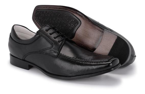 Sapato Social Masculino De Cadarço Bico Fino Em Couro 37