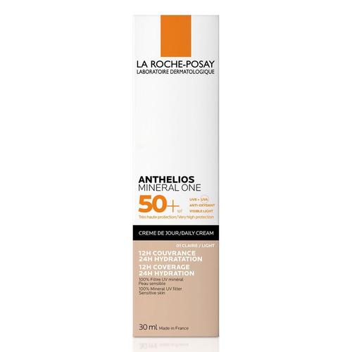 Imagen 1 de 3 de Protector solar La Roche-Posay Anthelios Mineral one N. 1 Light para rostro en crema FPS50 x 30ml