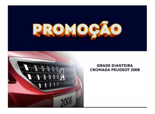 Imagem 1 de 2 de Kit Acessórios Grade Emblema Moldura 2008 Peugeot Novo