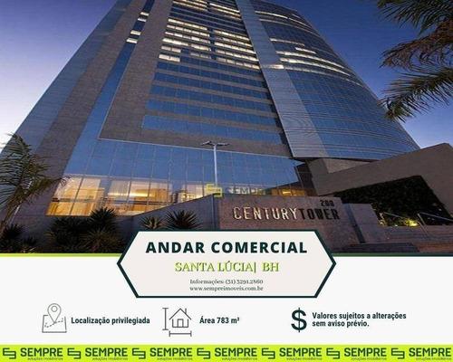 Imagem 1 de 29 de Andar Corporativo Para Alugar, 783 M² E 18 Vagas - Santa Lúcia - Belo Horizonte/mg - Ac0003