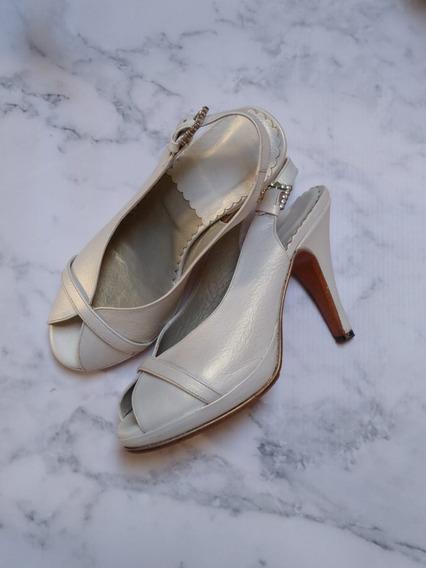 Zapatos De Novia.talle 35.un Solo Uso.suela Antideslizante.