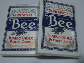 2 Baralhos Bee Jumbo Index Poker