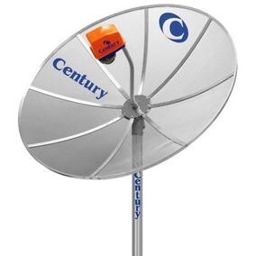 Antena Century 1.70m Multiponto Sem Receptor 17 - Prata