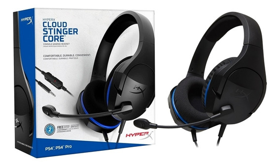 Headset Gamer Hyperx Cloud Stinger Core Ps4 Hx-hscsc-bk