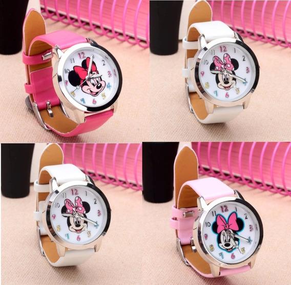 Relógio Minnie Menina Moça Mulheres Disney Lindo Charme