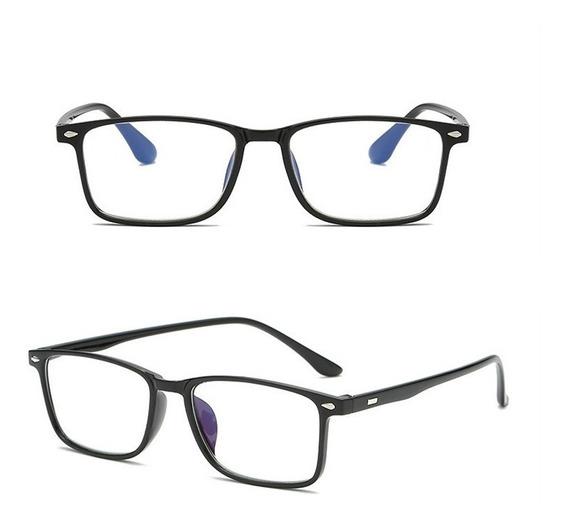 Armação Retro Quadrada Óculos De Grau