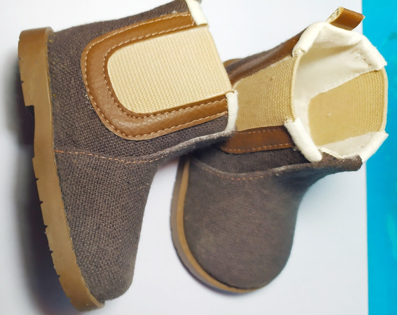 Zapatos Pimpolho Tipo Botín Color Café Para Niños