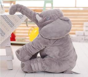 Travesseiro De Elefante Almofada Bebe Pelucia 60cm