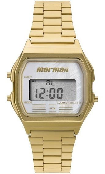 Relógio Mormaii Feminino Dourado Digital Garantia Original