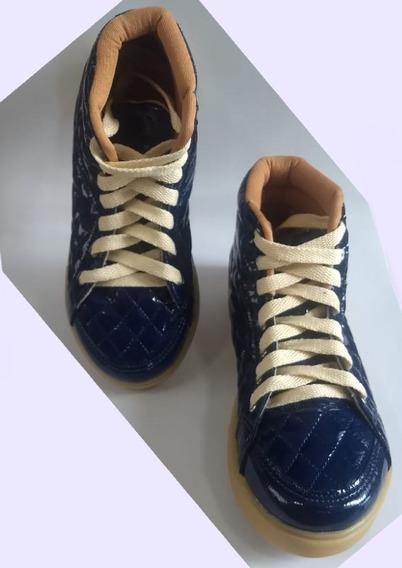 Bota Tênis Infantil Azul Led Tam. 31