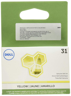 Dell 3mh11 Single Use Series 31 Ink Sy V525w/v725w, Yellow