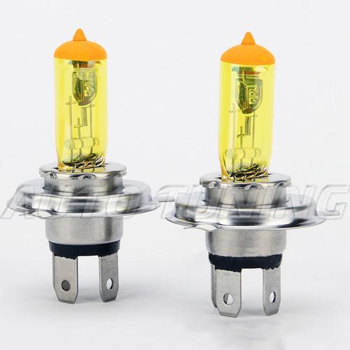 Lamparas Amarilla Efecto Solar H4 12volts 60/55w 2800k Kobo