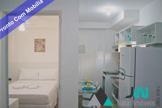 Venda De Apartamento Flat No Bairro Candelária, Natal, Todo Mobiliado - Ap00146 - 32826384
