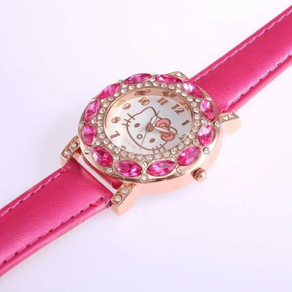 Relógio Hello Kitty Feminino Infantil Pronta Entrega