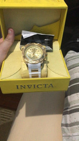 Relógio Invicta Original Aviator 24581 Ouro 18k Silicone