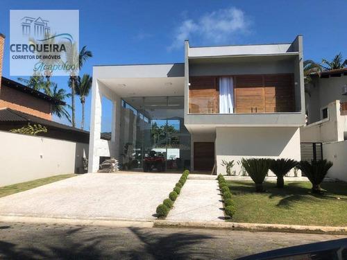 Casa Para Alugar, 420 M² Por R$ 3.500,00/dia - Acapulco - Guarujá/sp - Ca0577