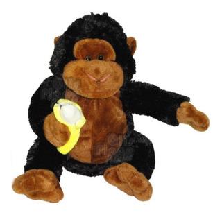 Gorila De Peluche Con Banana 34 Cm Imperdible Mono