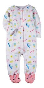 Macacão Com Pezinhos Pijama Carters Unicórnio Romper 3m