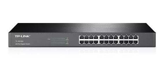 Switch 24 Bocas Tp-link Tl-sg1024 10/100/1000 Mbps Rackeable