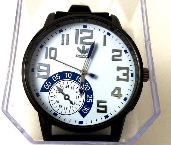 Relógio Masculino adidas Pulseira De Silicone Preto