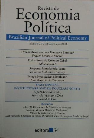 Revista De Economia Política Vol. 23 Nº2 Bresser- Pereira /