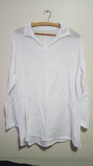 Camisa Unissex Manga Longa Branca