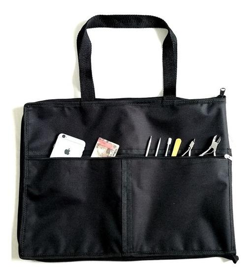 Bolsa Porta Esmaltes Manicure Até 120 Vidros Bolsos Externos
