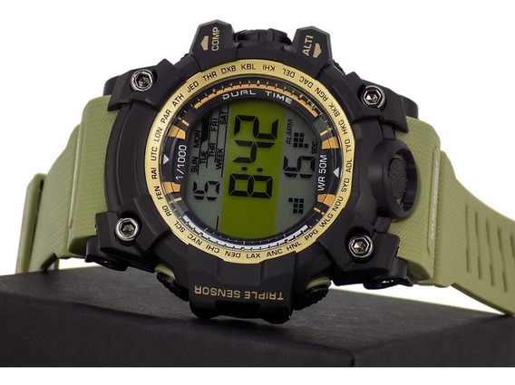 Relógio Masculino O-shock Alarme Calendário 100% Funcional