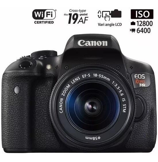 Canon T6i Premium 18-55 Stm +55-250 Stm Revend Autor. Canon