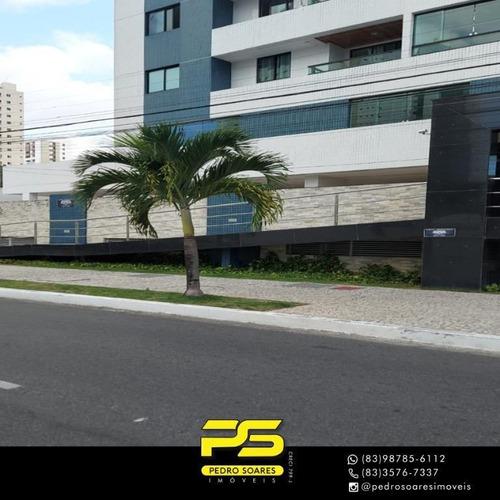 Apartamento Com 3 Dormitórios À Venda, 175 M² Por R$ 4.000 - Cabo Branco - João Pessoa/pb - Ap3869