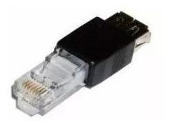 4 Adaptadores Usb Fêmea Rede Ethernet 10/100mbps Rj45 Macho