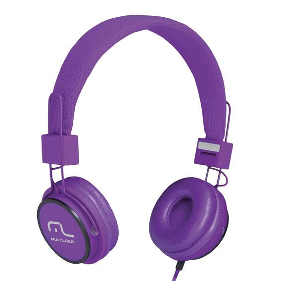 Fone De Ouvido Headphone Fun Multilaser Roxo
