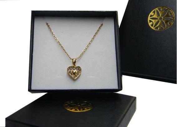 Collar Corazón Dorado Nice Regalo Mujer 119103