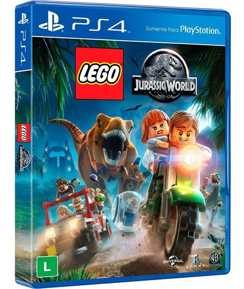 Lego Jurassic World - Ps4 - Mídia Física - Novo