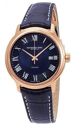 Relógio Raymond Weil Azul/dourado/rosé/couro Automático