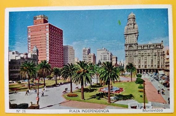 Tarjeta Postal: Plaza Independencia Montevideo Uruguay