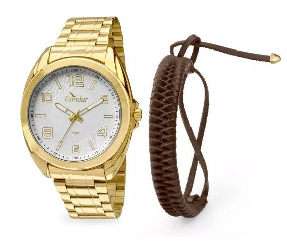 Relógio Masculino Condor Dourado Co2035kls/4k Original