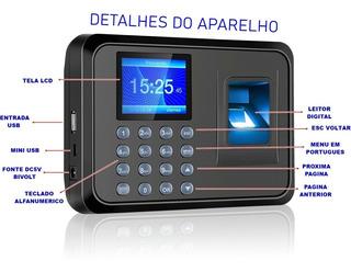Relógio De Ponto Digital Leitor Biométrico 1000 Cadastros