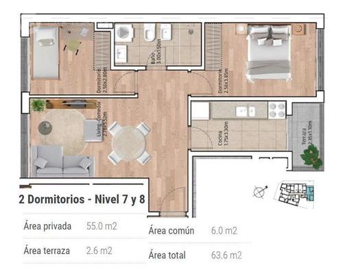 Imagen 1 de 12 de Apartamento - La Blanqueada - A Estrenar! Balcón, Al Frente