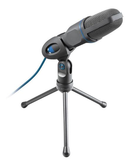 Microfone Trust All-round Usb Mico Plug 3,5mm Blue
