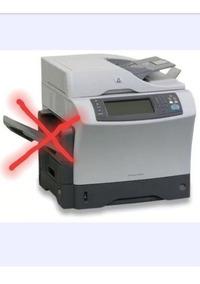 Impressora Hp Multifuncional M4345 Mfp Não Vai Guia De Papel
