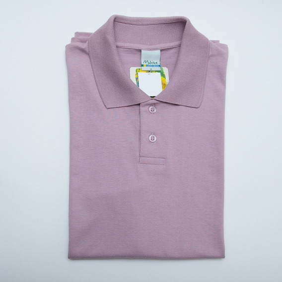 Camisa Polo Malwee Masculina Algodão Lisa Manga Curta Cores